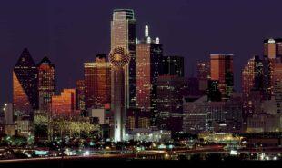 Texas nightscape, nightview